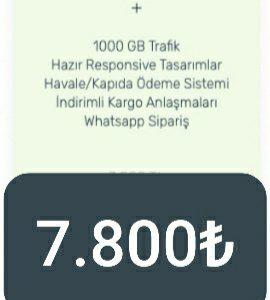 E-TİCARET WEB SİTESİ (Lite paket)